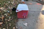KKK and Confederate Flag Cooler. Photo by Sam Singleton-Freeman.