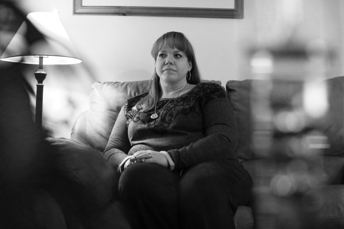 Nicole Teasley says she was ostracized after uncovering what she believed was timecard fraud by employees of the Milwaukee Enrollment Services office. Teasley left her state Department of Health Services job after filing a state whistleblower complaint and agreeing to a financial settlement with the agency. Photo by Coburn Dukehart/Wisconsin Center for Investigative Journalism.