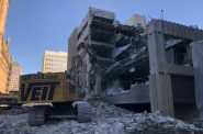 BMO Harris Parking Garage Demolition. Photo by Jeramey Jannene.