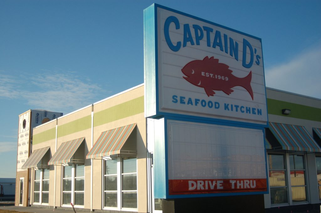 "Captain ""D's,"" a national seafood chain, will open its first Wisconsin restaurant on West Good Hope Road soon. Photo by Edgar Mendez."