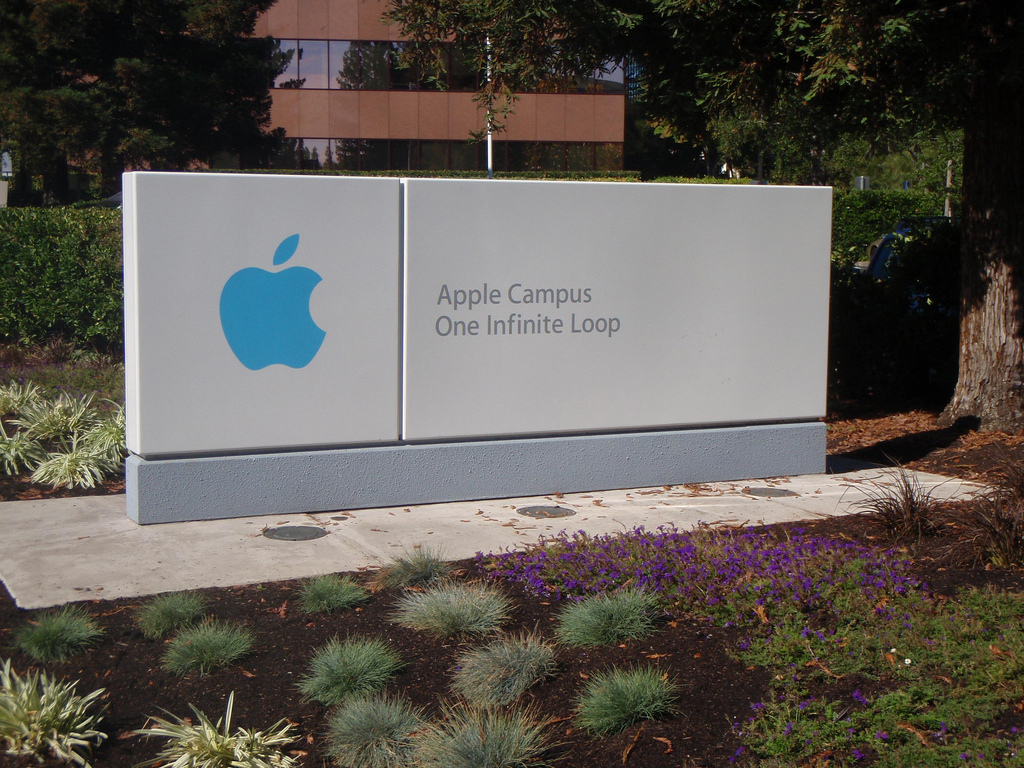 Apple Campus Photo by Lydia Fizz licensed under Creative Commons.