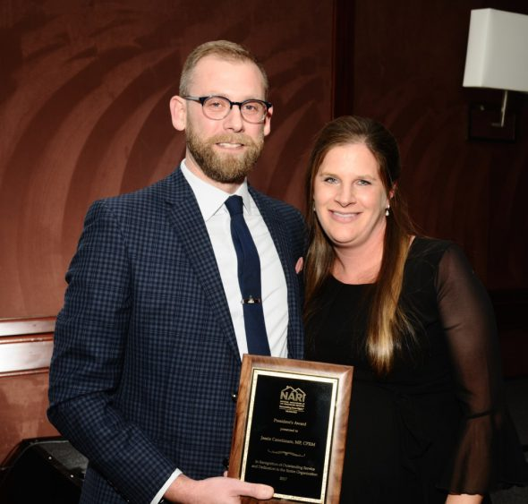 Josh Brown and Jessie Cannizzaro. Photo courtesy of the Milwaukee NARI.