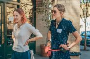 Saoirse Ronan (left) being directed by Greta Gerwig on the set of 'Lady Bird.'