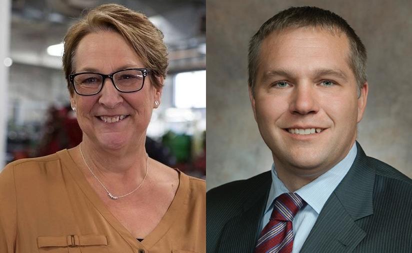 Patty Schachtner and Adam Jarchow.