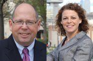 Tim Burns and Rebecca Dallet