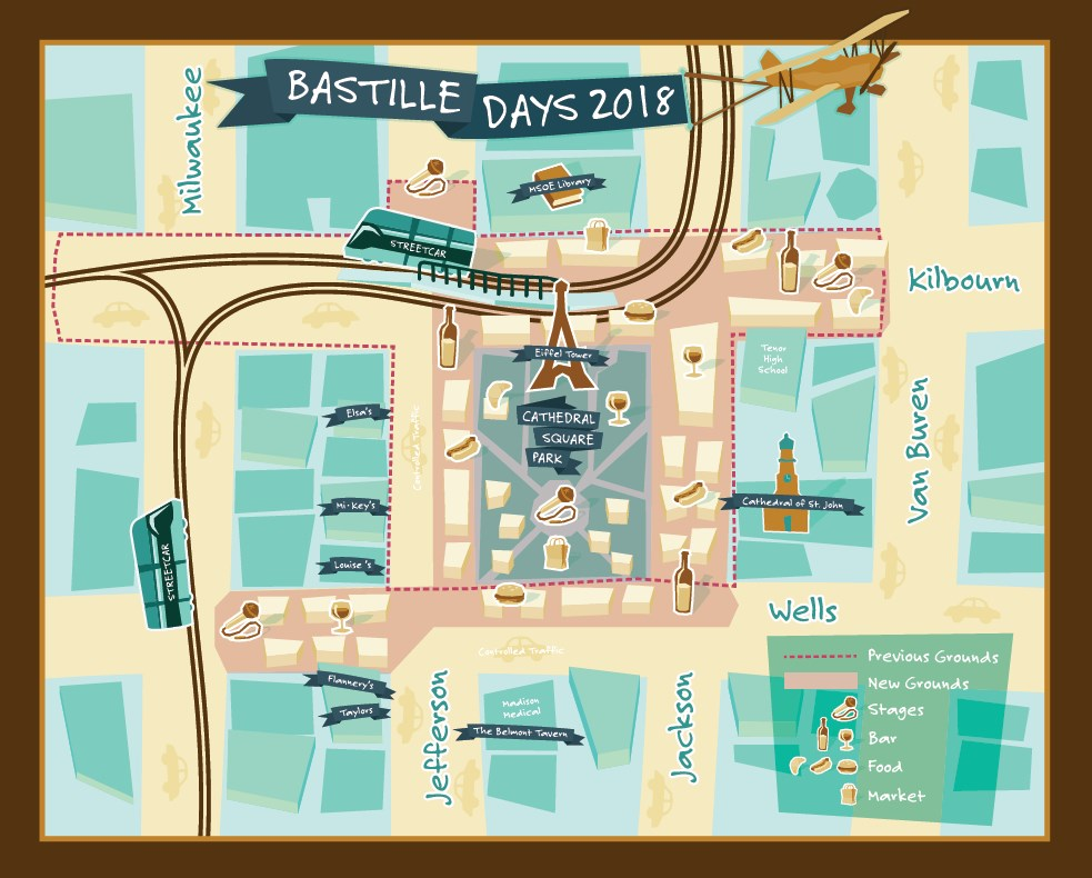 Bastille Days announces new footprint for 2018 festival