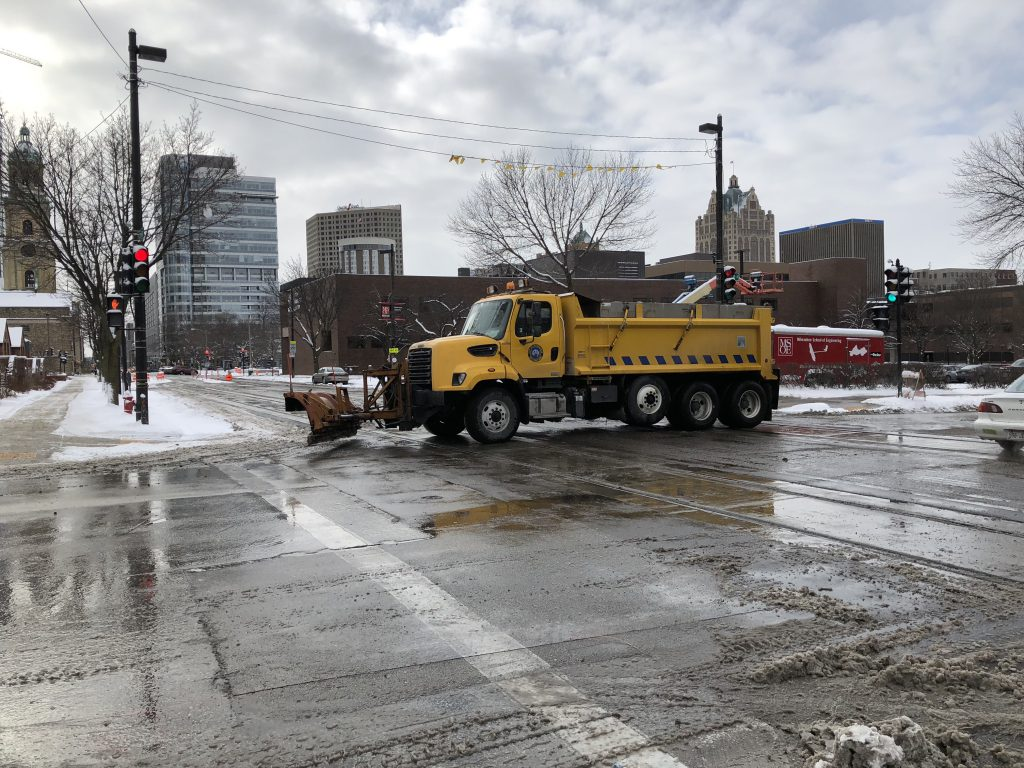 City of Milwaukee Snow Plow. Photo by Jeramey Jannene.