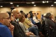 Attendees look on during the forum. Photo by Jabril Faraj.
