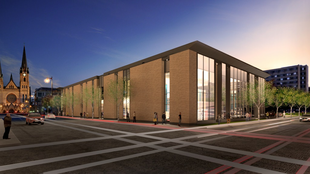 Athletic and Human Performance Research Center Rendering. Rendering courtesy of Marquette University.