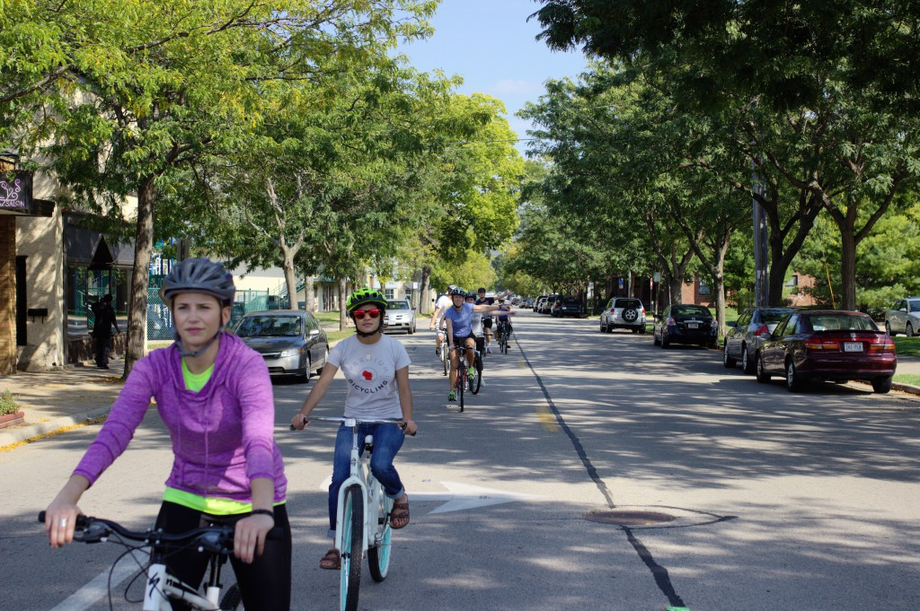 Western T. C. students participate in Share & Be Aware on-bike class.
