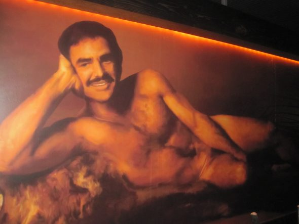 1972 nude Cosmopolitan centerfold of Burt Reynolds. Photo by Michael Horne.