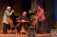 Susan Sweeney (Peg), James Pickering (Gunner), and Simon Provan (Jack). Photo by Mark Frohna.