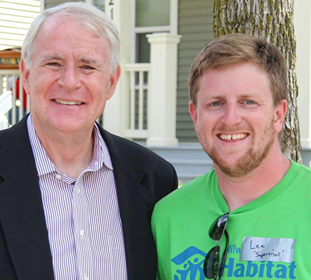 Mayor Tom Barrett and Lee Rowley. Photo courtesy of NEWaukee.