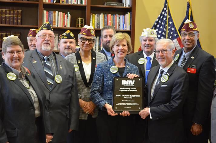 U.S. Senator Tammy Baldwin Honored by Disabled American Veterans Organization with Senate Legislator of the Year Award