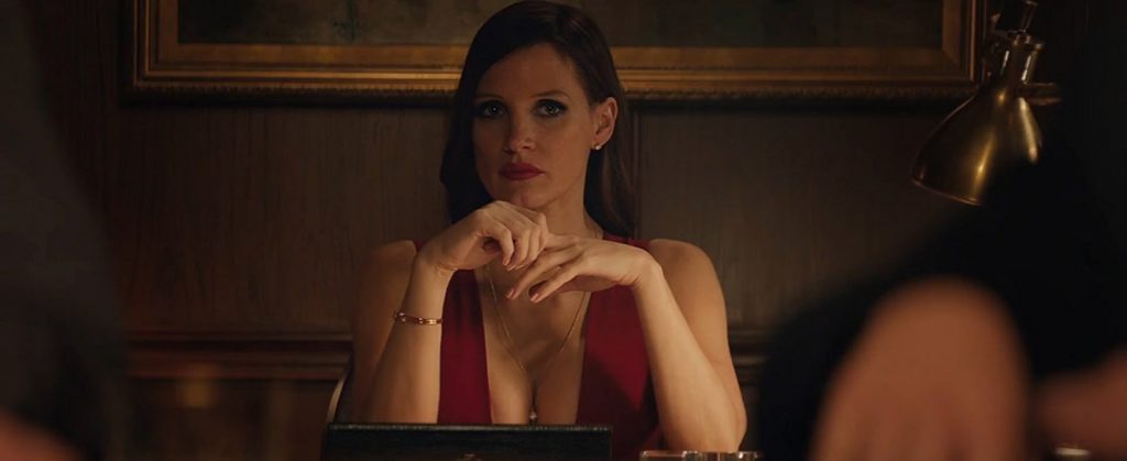 "Jessica Chastain in ""Molly's Game,"" written and directed by Aaron Sorkin. Photo from STX Films."
