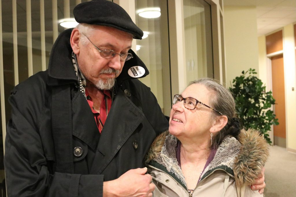 John Hagedorn and his wife, Mary Devitt, were interviewed by professional archivists about their personal stories involving the 1967-68 Milwaukee open housing marches. Photo by Margaret Cannon.
