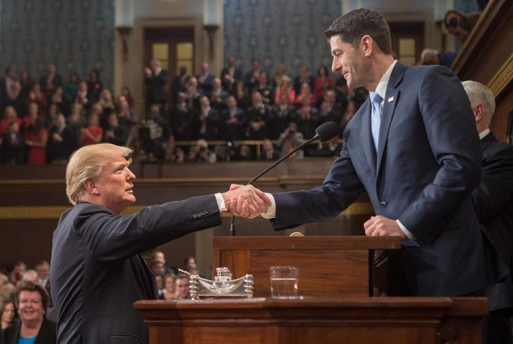 President Donald Trump and Speaker of the House Paul Ryan.