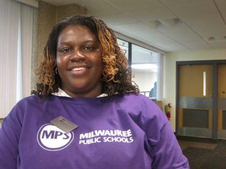 MPS Intern Coordinator Tamara Coleman partnered with UWM and MATC to coordinate the job fair. Photo by Talis Shelbourne.