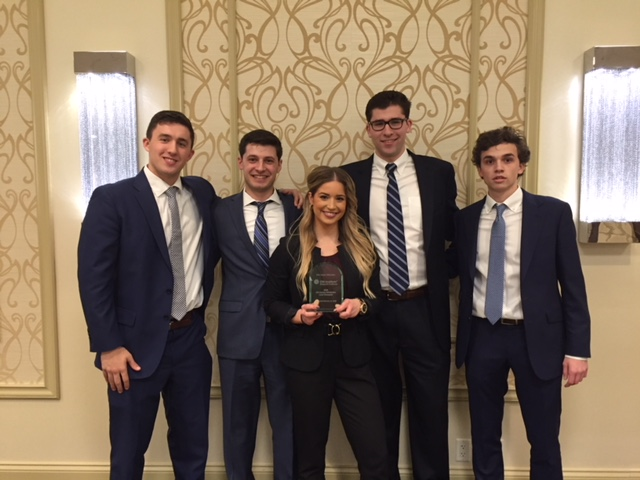 Andrew Crossman, Stephen Arcuri, Brooke Porath, Charles Muth and Connor Konicke. Photo courtesy of Marquette University.