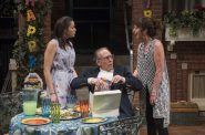 Milwaukee Repertory Theater presents the World Premiere of One House Over in the Quadracci Powerhouse from February 27 – March 25, 2018. Left to Right: Zoë Sophia Garcia, Mark Jacoby, Elaine Rivkin. Photo by Michael Brosilow.