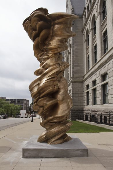 "Tony Cragg, Mixed Feelings, 2010, bronze, 216 1/2"" x 92 7/8"" x 88 3/16"". Photo by Tom Bamberger."