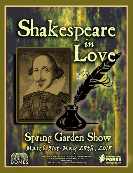 "The language of flowers comes to life in the Spring Floral Show, ""Shakespeare in Love,"" on view at The Domes, March 31-May 28."