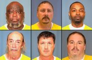 Clockwise from top left, Sylvester Jackson, Don Mulder, Ventae Parrow, Brian Anthony, Matthew Schechter and Glenn Davis are some of the 11 registered sex offenders in a pending case against a 2,000-foot residency restriction in the city of Milwaukee, where countless sex offenders, many on GPS monitoring, are homeless. The parties are working on a settlement after the city significantly rewrote its residency requirements. Photos from the Wisconsin Department of Corrections.