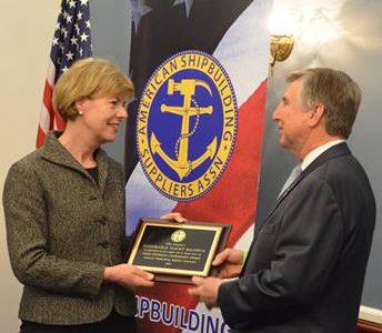 U.S. Senator Tammy Baldwin Honored with Senator Thad Cochran Leadership Award from American Shipbuilding Suppliers Association