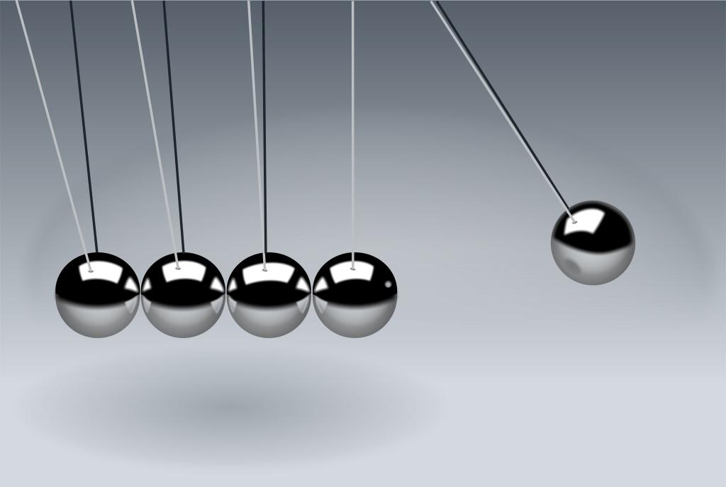 Something is. Swinging pendulum in government