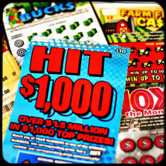 Wisconsin offers a variety of lottery games, including scratch-offs and games that involve guessing numbers that appear in daily or biweekly drawings. Photo by Coburn Dukehart / Wisconsin Center for Investigative Journalism.