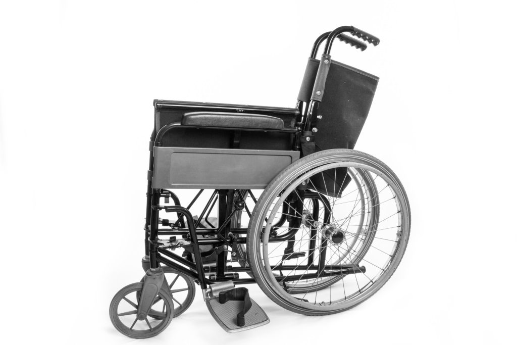 Wheelchair. Photo is in the Public Domain.