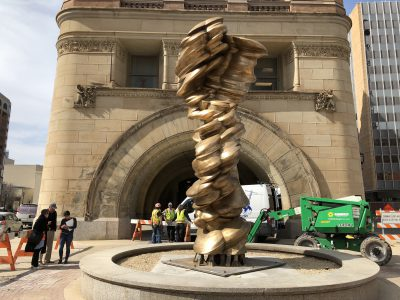 Eyes on Milwaukee: Sculpture Installed Outside City Hall