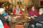 Seniors gathered at the United Community Center are among nearly 47 million people who received Social Security benefits in February 2018. Photo by Edgar Mendez.