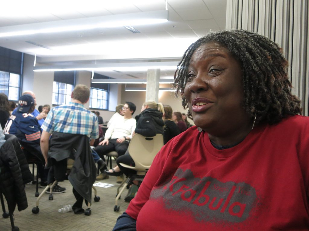 Lisa Williams smiles as she talks about going from homeless to homeowner. Photo by Talis Shelbourne.