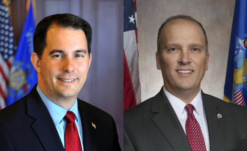 Scott Walker and Brad Schimel.