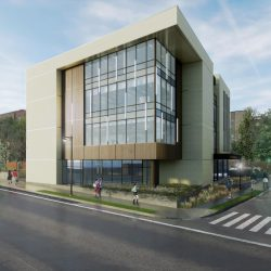 Marquette Physician Assistant Facility. Rendering by HGA and Groth Design.