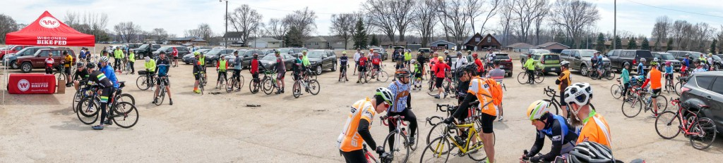About 80 people showed up in Onalaska for the ride.