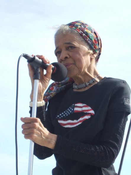Vel Phillips. Photo by Voces de la Frontera from Milwaukee, USA (Vel Phillips at March on Milwaukee - 2007) [CC BY 2.0 (https://creativecommons.org/licenses/by/2.0)], via Wikimedia Commons
