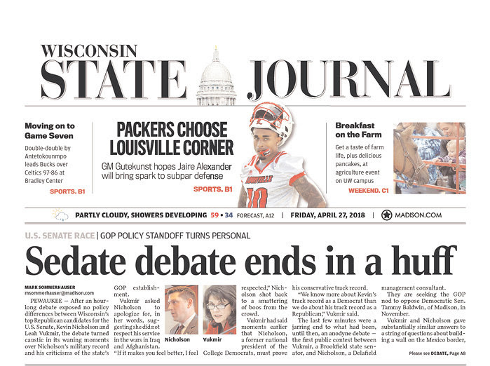 """Sedate debate ends in a huff"""