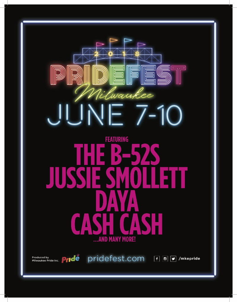 PrideFest Milwaukee June 7-10