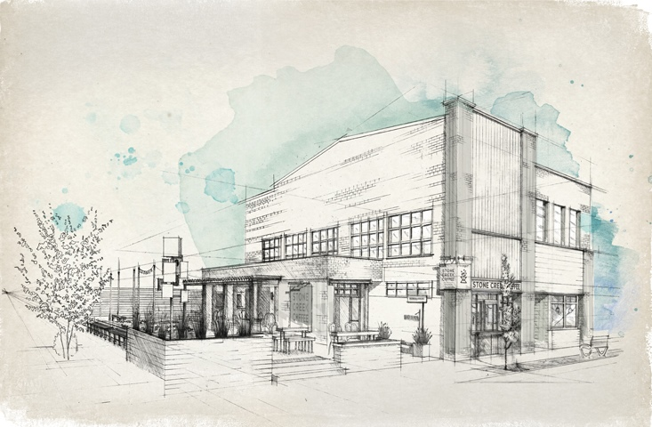 Stone Creek Coffee - Downer Ave Drawing.