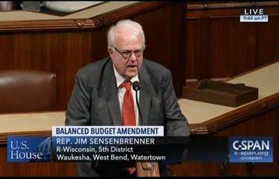 Sensenbrenner Supports Balanced Budget Amendment