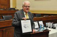 Jim Sensenbrenner receives award for work on Second Chance Act. Photo from Sensenbrenner's office.