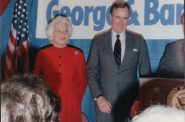 Barbara Bush and Vice-President George Bush Madison 1988. Photo courtesy of Gregory Humphrey.