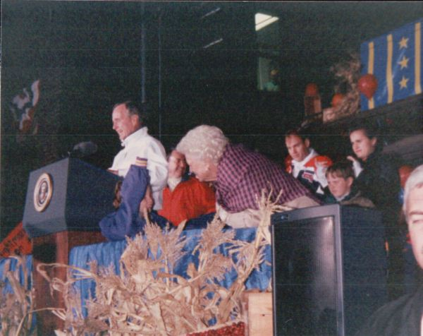 President George Bush and First Lady Barbara Bush. Photo courtesy of Gregory Humphrey.