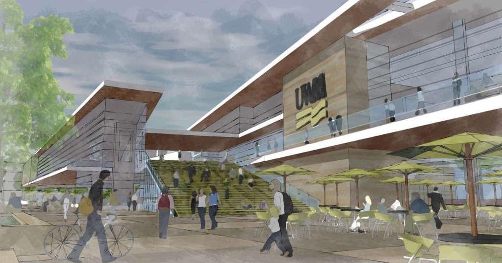 Conceptual design for a new UWM Student Union from 2014.