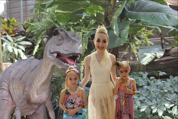 Long a popular location for family photos on Mother's Day, The Domes offers a unique backdrop this year with Dinos Under Glass. (For a more traditional backdrop, visitors may choose the Shakespeare in Love exhibit in the Floral Show Dome). Photo from Milwaukee County Parks.