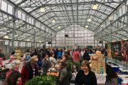 The Milwaukee Winter Farmers Market moved from the Mitchell Park Domes lobby to the greenhouse annex in January 2015. Photo by Katie Hassemer.