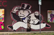 Mr. Money Bags mural. Photo by aisletwentytwo. (CC BY 2.0)