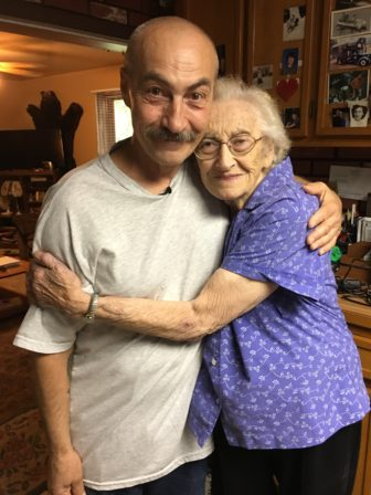 Richard Beranek is pictured with his mother Rose Beranek at her home in Junction City, Wis. after his release from prison on June 23, 2017. All charges against Beranek, who had served 29 years in prison, including 19 years for a sexual assault that he did not commit, were dropped Thursday, May 17, 2018. Photo by Keith Findley / Innocence Project.
